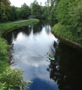 A canoe on the Slough near Bothell Landing.