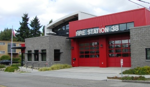 Fire Station 38 at 4004 NE 55th Street in Hawthorne Hills.
