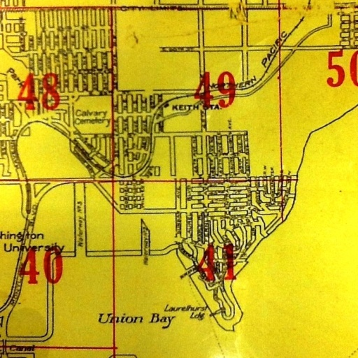 Kroll Map of northeast Seattle in 1912. Photo courtesy of David B. Williams (see Source list.)