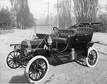 The Model T Ford produced in 1908 caused a meteoric rise in automobile ownership and boosted the Good Roads movement in America.