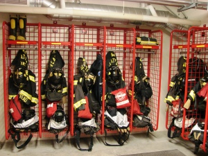 Fire Station 40 gear and equipment.
