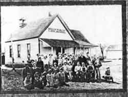 Wellsdale School, Oregon, in the 1890's.
