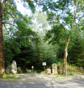 The entrance to Meadowbrook Pond is on 35th Ave NE at about NE 107th Street and has stone markers.