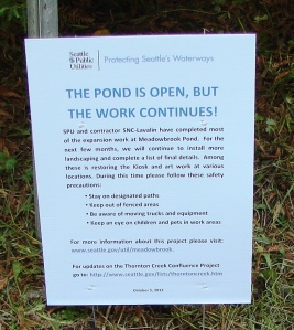 Pond reopening 10.5.2013