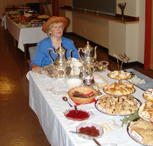 Dorothy Brancato's memorial service reception was celebrated as a tea party with fancy hats and delectable sandwiches.