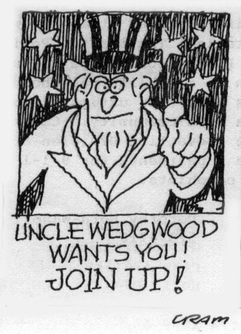 Wedgwood Community Council membership cartoon by Bob Cram, March 1988 newsletter.