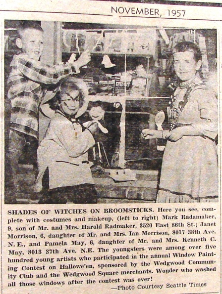 Wedgwood Echo November 1957 front page photo