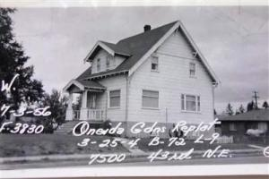 The house at 7500 43rd Ave NE in Wedgwood was built in 1910 by German immigrant Gustav Morris.