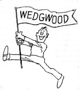 Wedgwood banner cartoon by Bob Cram, Wedgwood Community Council Newsletter of March 1996.