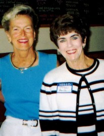 Barbara (left) and Joleen (right) at a 2003 Wedgwood Princess reunion.