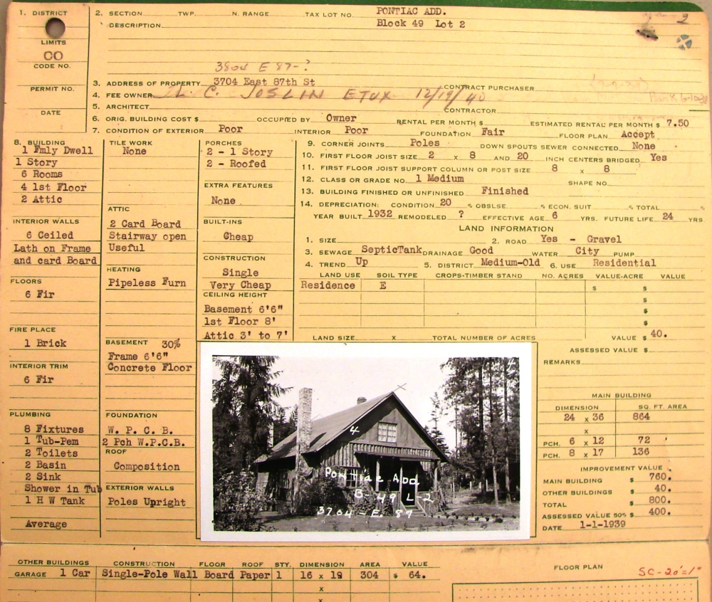 A Log House Life in Wedgwood in the 1930s (4/6)