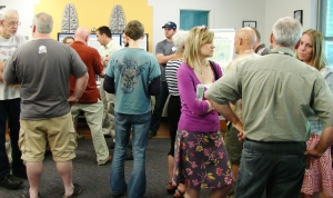At a well-attended info session on May 13, 2014, Meadowbrook residents asked questions about the upcoming Confluence work.