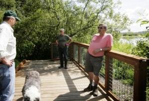 Yesler Swamp overlook on the boardwalk
