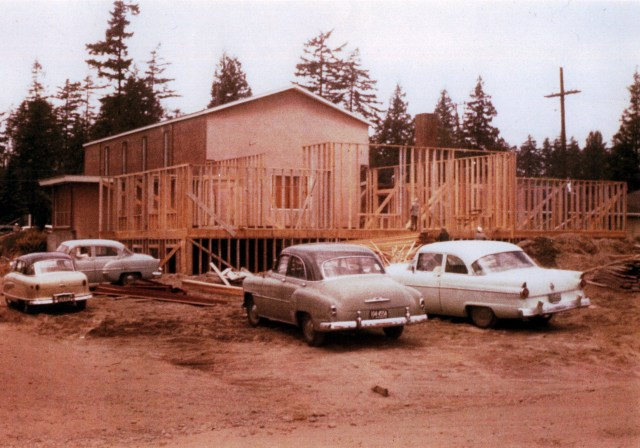 In 1957 the Wedgwood Presbyterian Church building was expanded. Photo courtesy of David Chamness.