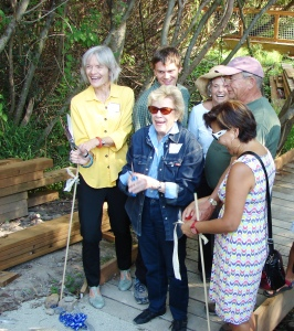 The first section of boardwalk at the Yesler Swamp was celebrated with a ribbon-cutting ceremony in September 2014.