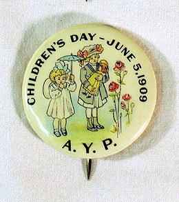 AYPE Children's Day pin courtesy of Dan Kerlee and HistoryLink Essay #8665