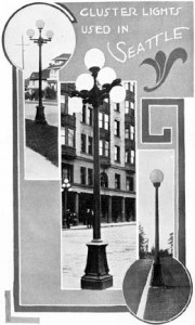 City Light put in streetlamps in 1909. Photo courtesy of the 1911 City Light Annual Report.