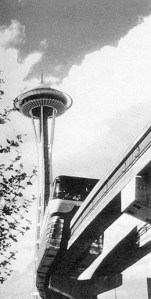 The Space Needle and the Monorail were built for the Century 21 World's Fair in 1962.