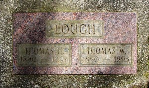 Lough gravemarker father and son