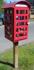 A Little Free Library model of a British telephone box is one of the kits sold on the website.