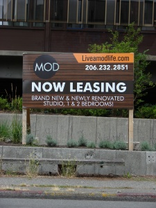 As of August 2016 the signboard says that the building now called The Mod is accepting reservations for the new apartments.