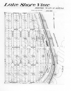 The plat of Lake Shore View was filed in 1906, from NE 95th to 105th Streets.