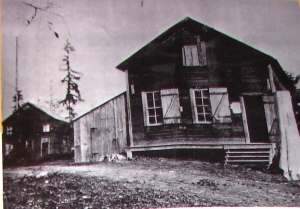 An 1898 photo of the buildings at the former Maple Leaf sawmill site.
