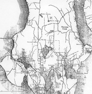 McKees Correct Road Map of Seattle and Vicinity, 1894.