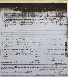 House-moving permit of 1920