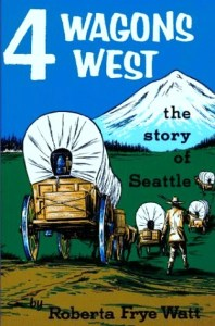 Four Wagons West book cover