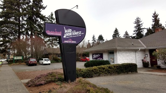 Maid in the Northwest sign.December 17 2016