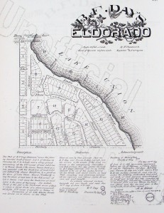 Two weeks after Seattle's Great Fire, B.F. Day began to sell lots in land that he owned. The El Dorado plat was along what is now Westlake Avenue just south of the present Fremont Bridge.