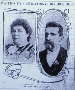 The Days' divorce case made headlines in the Seattle Post-Intelligencer newspaper on July 12, 1903.
