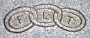 The motto of the Odd Fellows fraternity was friendship, love and truth, and this triple-ring symbol is often used on grave markers of I.O.O.F. members.