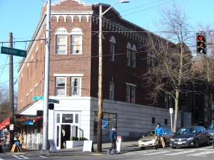 In B.F. Day's lifetime the Fremont chapter of the International Order of Odd Fellows had a wood-frame meeting hall on this site. It was replaced by this brick building in 1927.