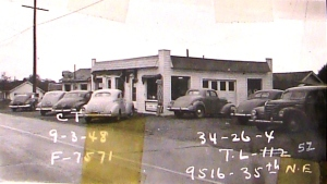 The 95th Barber Shop, built in 1939, is pictured here in a 1948 tax assessors photo.