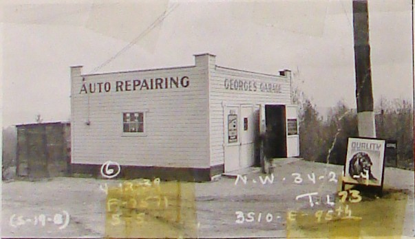 George's Garage at 3510 NE 95th Street in 1939