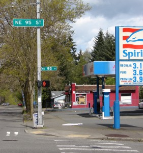 There has been a gas station at 9500 35th Ave NE since 1932.