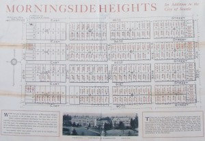 The Morningside Heights housing development was advertised with this brochure in 1923.