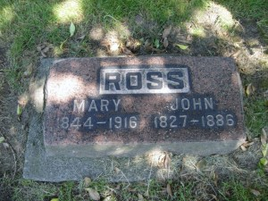 Ross grave marker at Mt. Pleasant Cemetery on Queen Anne hill in Seattle. Photo courtesy of Find A Grave.