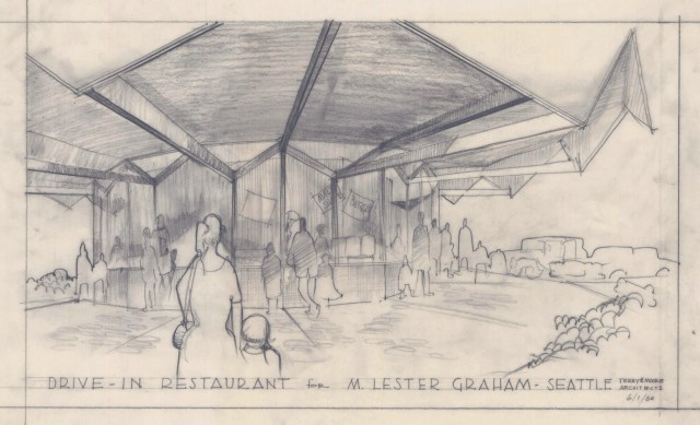 Club 19 Restaurant architectural rendering of 1960