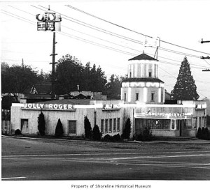 The Jolly Roger restaurant was at 8721 Lake City Way NE. Photo courtesy of Shoreline Historical Museum.