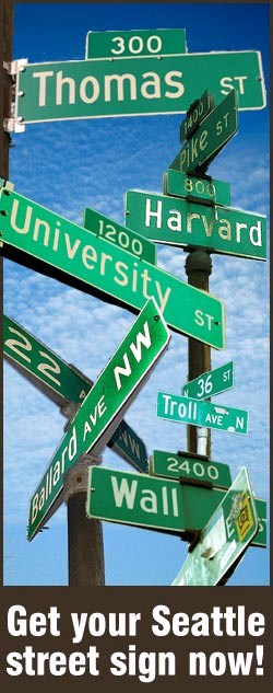 Street signs available for purchase