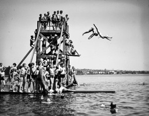 Green Lake Beach, June 25, 1936, photo from the Seattle Municipal Archives.