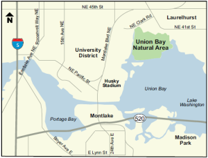 Union Bay Natural Area Map