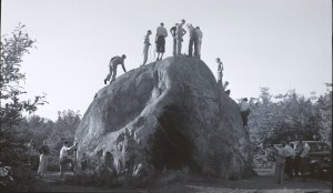 Climbing practice on the Rock circa 1941, Lloyd Anderson Collection in The Mountaineers, courtesy of Lowell Skoog, Archivist.