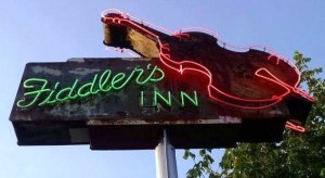 Fiddler's Inn neon sign