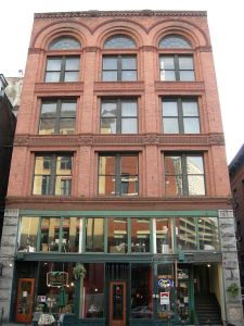 Schwabachers Building at First & Yesler.photo courtesy of Joe Mabel
