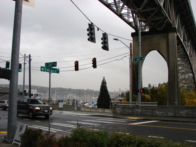 Aurora Bridge at 34th in Fremont.Autumn 2017