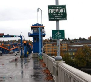 Fremont Bridge.enter the neighborhood on November 11 2017